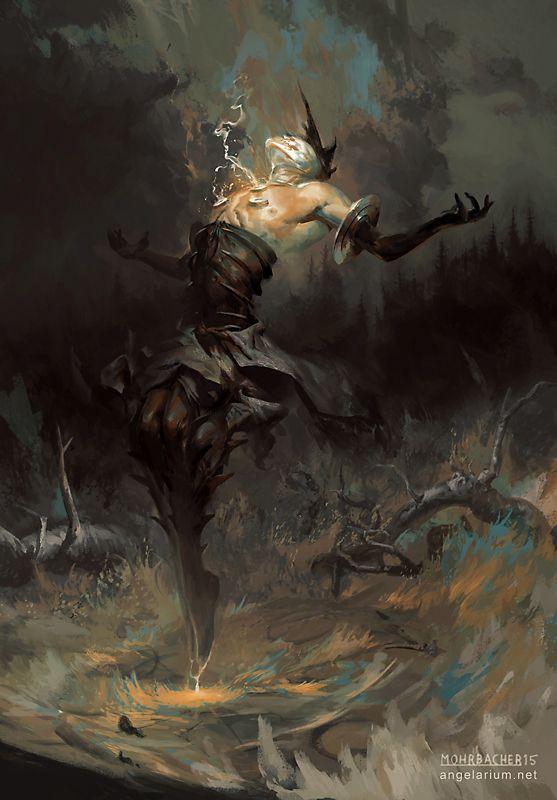 Baraqiel, Angel of Lightning by PeteMohrbacher on DeviantArt