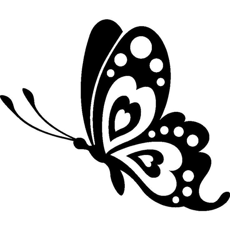 Sticker Profil Papillon