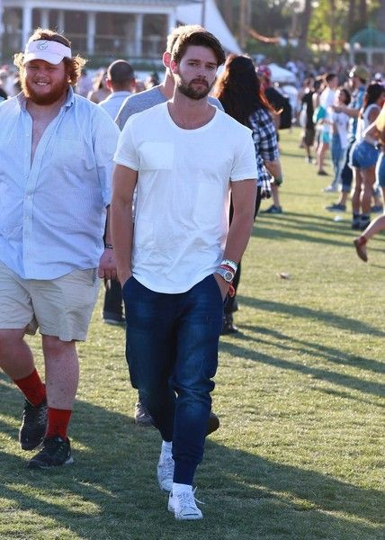 Patrick Schwarzenegger Photos - Celebrities at Day 3 of first weekend of The Coachella Valley Music and Arts Festival in Indio, California on April 11, 2015.<br /> Pictured: Patrick Schwarzenegger - Coachella Music Festival Day 3