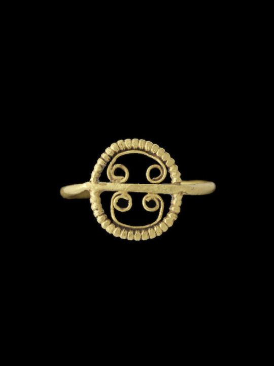 Ancient Jewels and Jewelry - Gold openwork Roman ring c. 3rd-4th centuries CE. From Bonhams auction house.