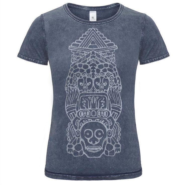 Dámske denim indiánske tričko s potlačou