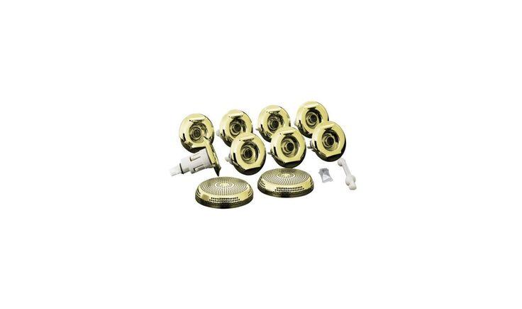 Kohler K-9398 Metal or Plastic Trim Kit for RiverBath Whirlpool Jets French Gold Accessory Trim Kit Accessory