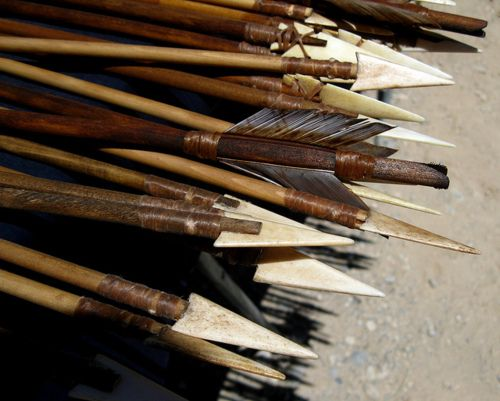 The Art of Bushcraft. Hand made arrows.