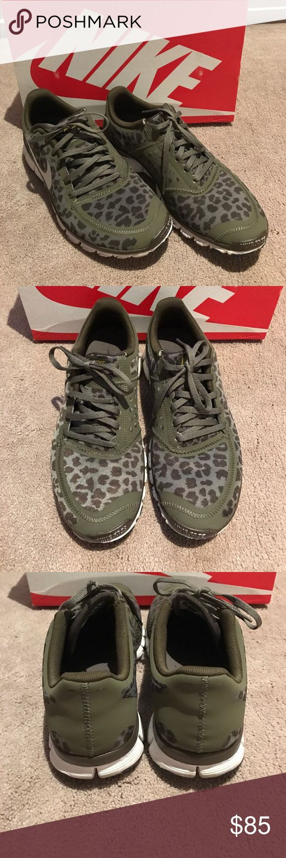 Military Leopard Nike Free 5.0 SZ8.5 Lightly worn and in excellent condition. Will come with original box. Shoes Sneakers