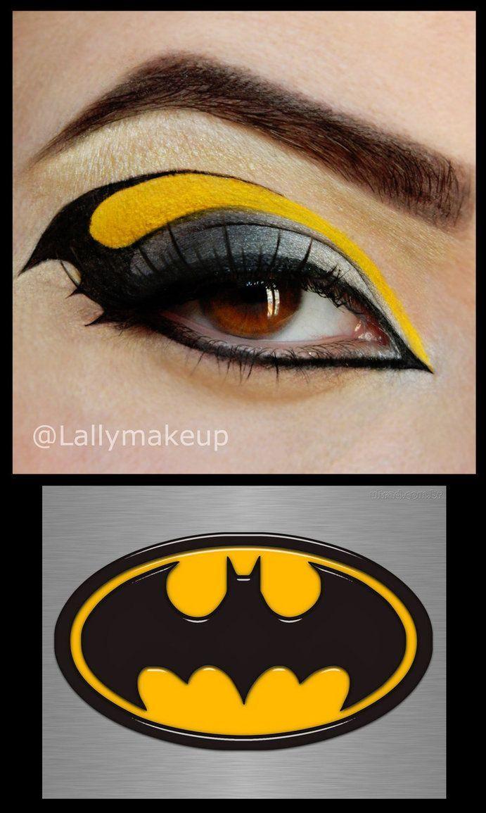Batman makeup for a batman costume