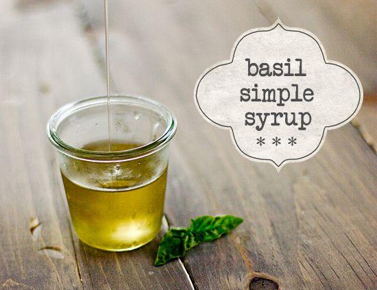 Basil Simple Syrup - for lemonade, iced tea, etc.