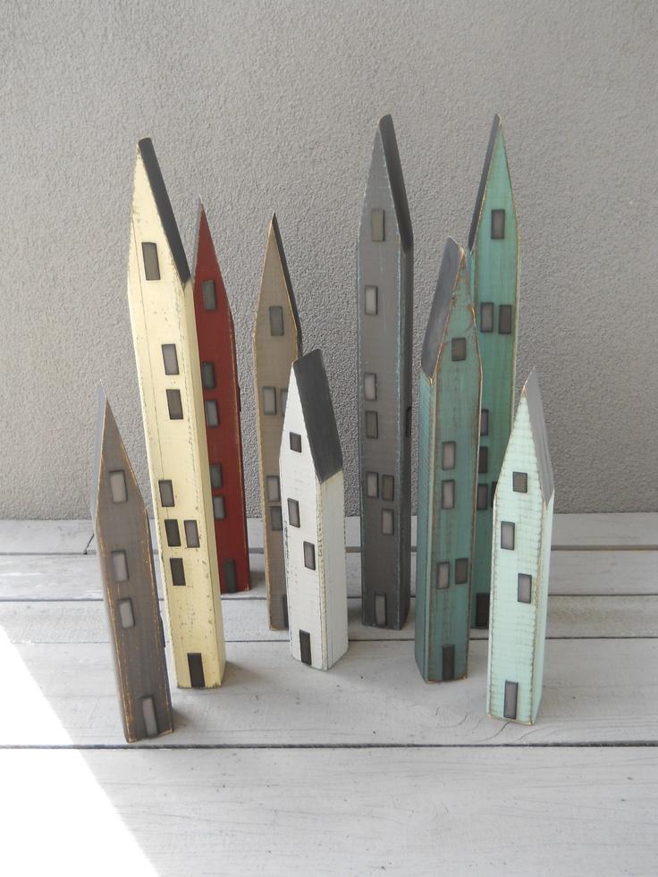 A village!By Paulette Harris, a Carterton artist. Love these