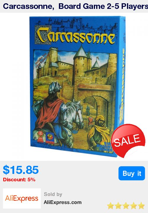 Carcassonne,  Board Game 2-5 Players Cards Game For Party/Family/Friends Easy To Play With Free Shipping * Pub Date: 06:26 Jul 7 2017