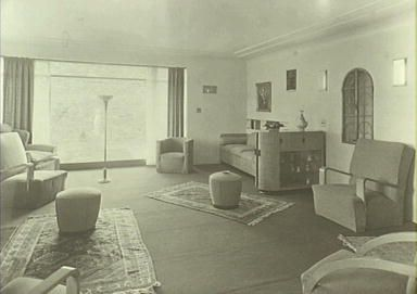Everglades 1933 - 1943, showing living room as it was originally furnished