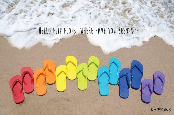 The FLip-Flop season is back!!! #Kapsons #FlipFlops #Summer