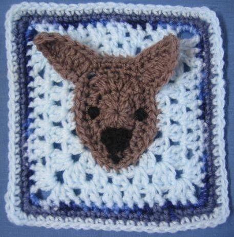 Kangaroo square  rugalugs crochet pattern by crochetroo on Etsy, $4.00