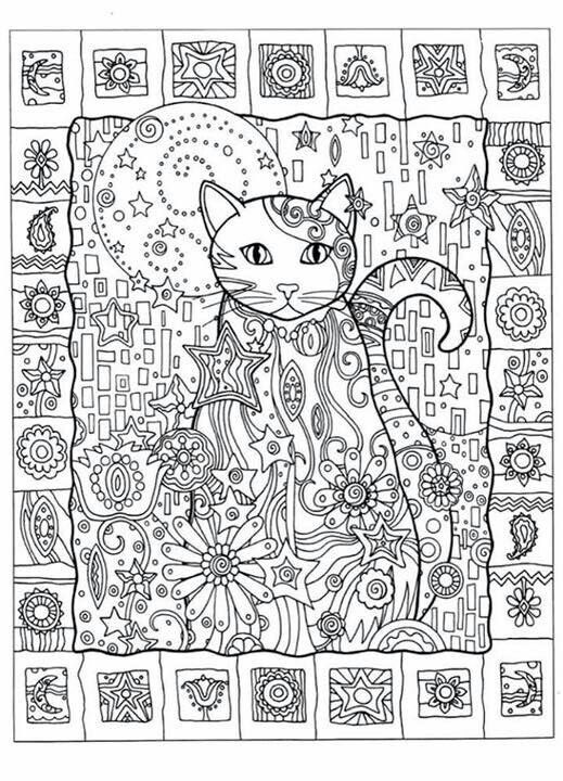 Creative Haven Creative Cats Dover Publications Cat Cats Kitty Kitties Kitten Kittens Feline Gatos  Katze chat gatto cat котэ  kočka druku gato katt macska tulostettava Coloring pages colouring adult detailed advanced printable Kleuren voor volwassenen coloriage pour adulte anti-stress kleurplaat voor volwassenen Line Art Black and White Abstract Doodle Zentangle ZenDoodle Paisley