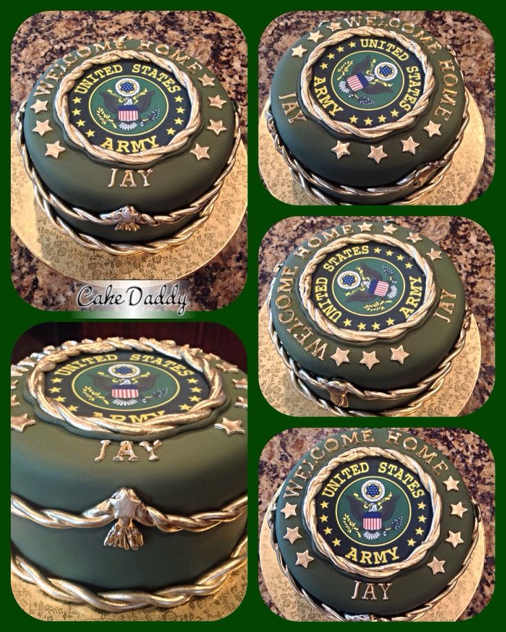 U s army welcome home cake custom cakes by cake daddy for Military welcome home party decorations