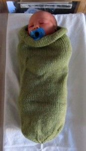 Baby cocoon - charity knitting