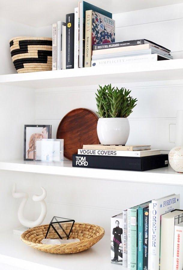 ideas para decorar estanterias