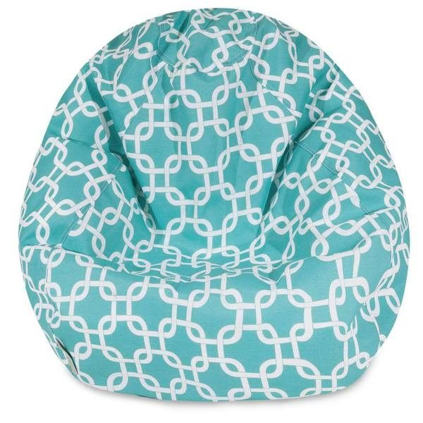 Majestic Home Goods Links Classic Bean Bag, Small, Teal