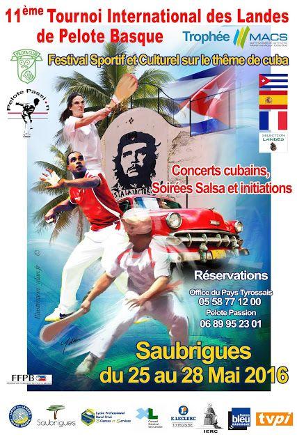 Affiche du tournoi International de Saubrigues 2016... #Art #Artiste