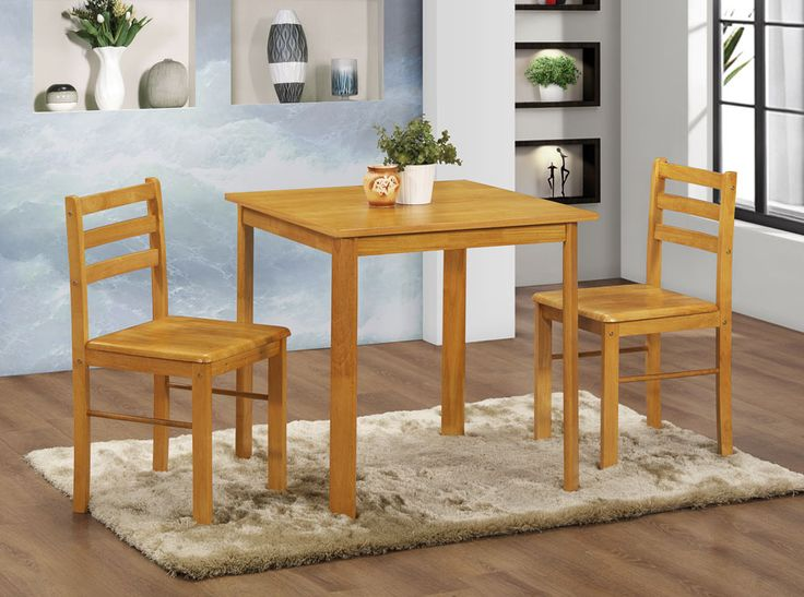 York Small Dining Table And 2 Chairs With A Natural Oak Finish