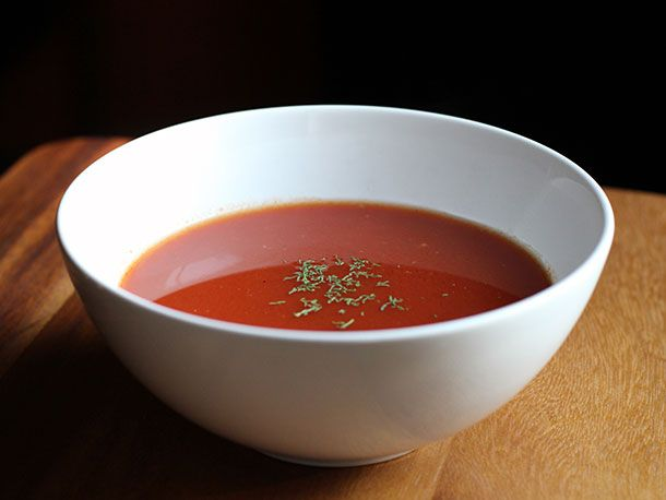 ... instant tomato red pepper soup (using tomato and red pepper powder