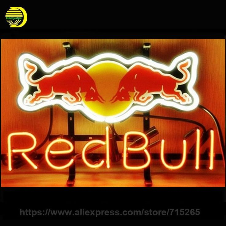 "107.35$  Watch now - http://ali92z.worldwells.pw/go.php?t=32764245546 - ""NEON SIGN For Red Bull Redbull Energy Drink Signboard REAL GLASS BEER BAR PUB display outdoor Light Signs 17*14"""" Recreation VD"""