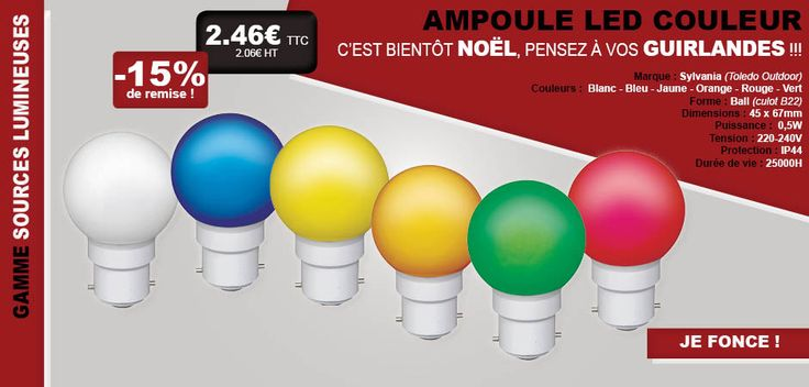 #ampoule #LED #couleur #lampe #éclairage #éclairer #intérieur #extérieur #Sylvania #Toledo #outdoor #gamme #LFDB #lesfournituresdubatiment #habitat #maison #prix #promo #promotion #remise #réduction #noël #fête #fêtes