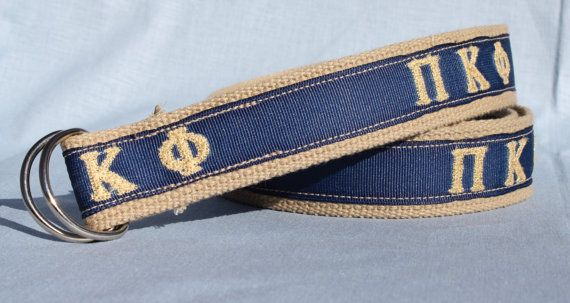 Pi Kappa Phi Fraternity Men's Belt by BeltsNWhistles on Etsy, $25.00
