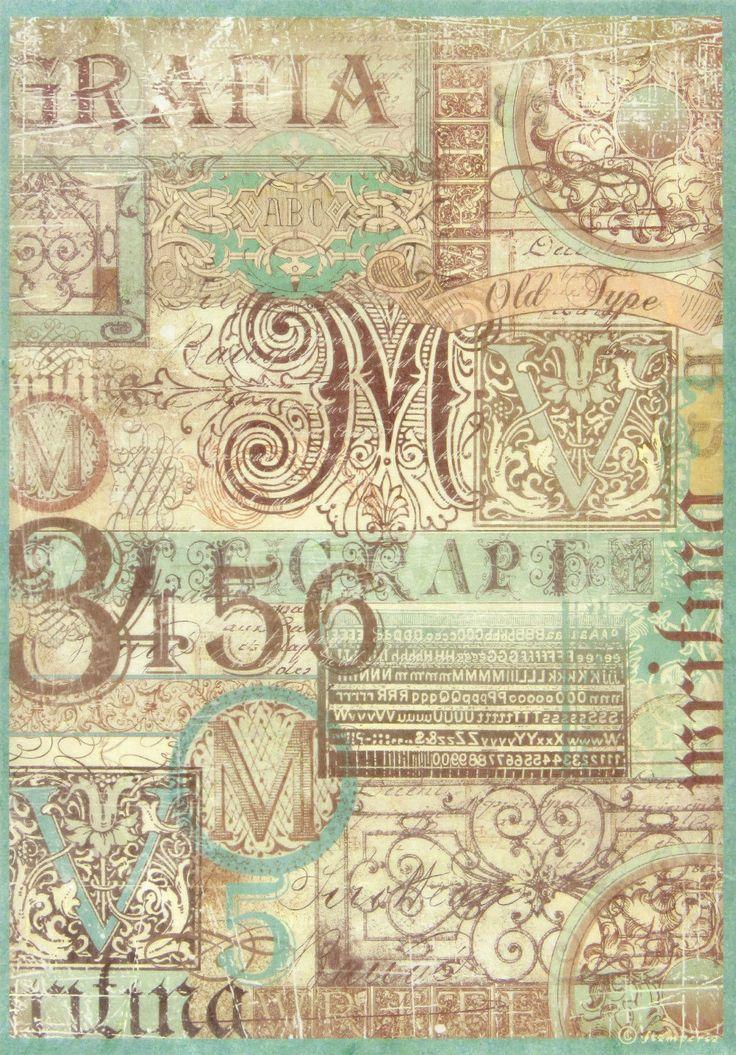 Ricepaper / Decoupage paper, Scrapbooking Sheets Calligraphy | eBay