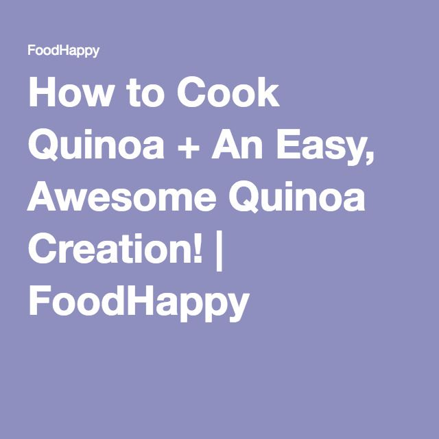 how to cook quinoa easy