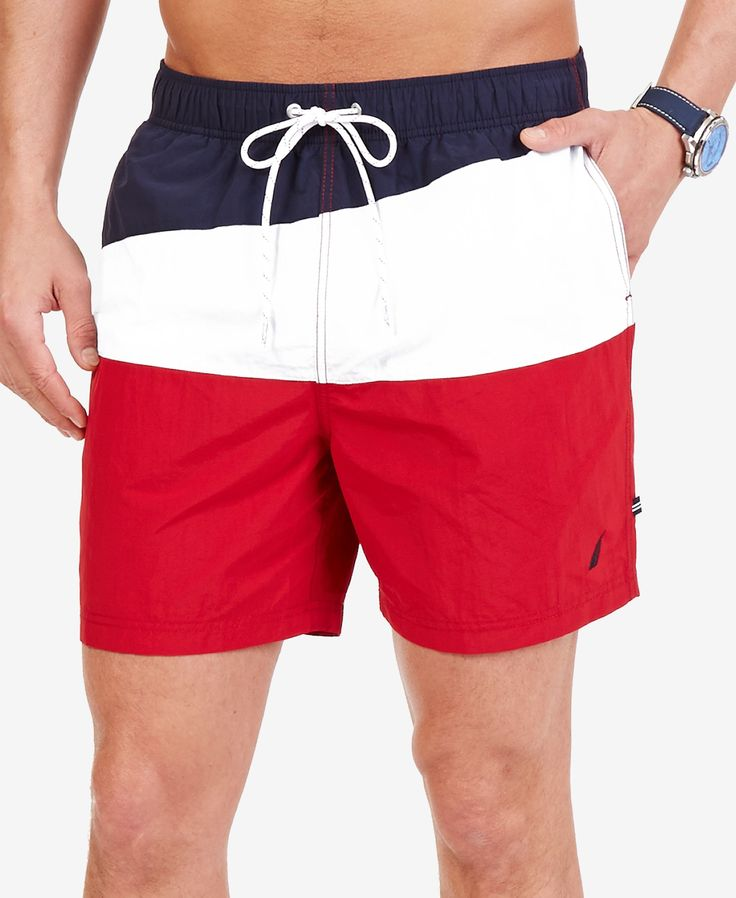 Nautica Men's Quick Dry Colorblocked Swim Trunks