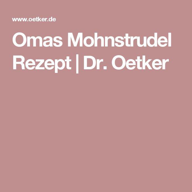 Omas Mohnstrudel Rezept | Dr. Oetker
