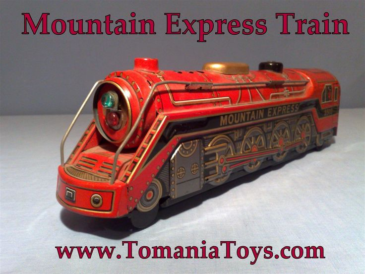 Mountain Express 3502 Tin Toy Train - Batteryoperated Mystery Action Trade Mark MT - Modern Toys  Made in Japan