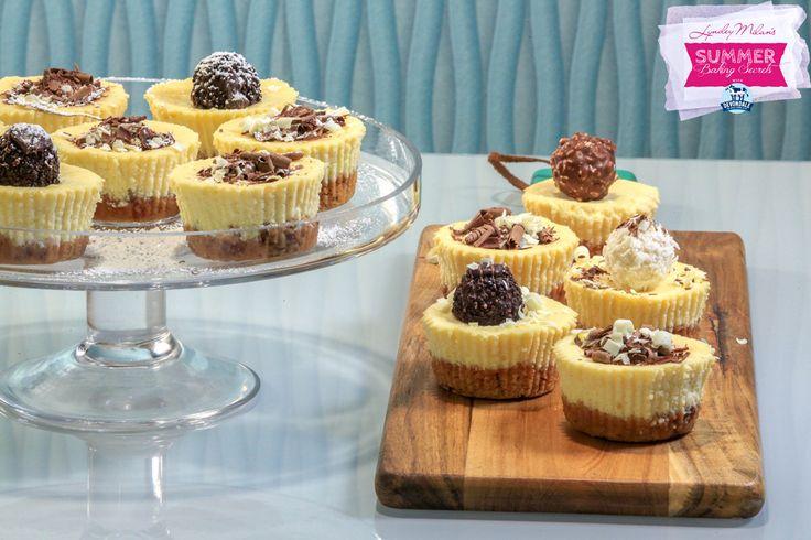 lyndeymilan.com   –  Vanilla Bean Cheesecakes with Pecan Cinnamon Crust