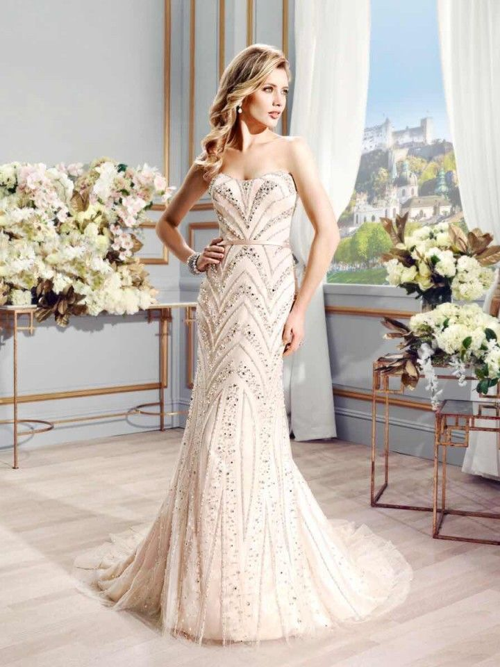 Robes de Noiva 2015 luxe perles scintillantes diamants tribunal Train sirène robes de mariée élégante robe de mariée mince dans Robes de mariée de Mariages et événements sur AliExpress.com   Alibaba Group