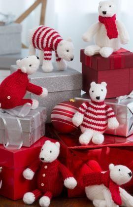 Strickmuster für Festliche Eisbären für die Weihnachtszeit