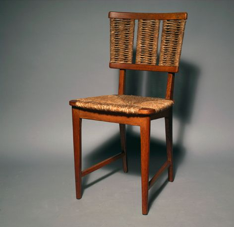Mart Stam; Oak and Paper Chord Chair, 1947.
