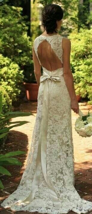 Lace dress!!!! Would work Perfect for a wedding dress!!!! I think it might be though!