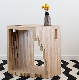 Ply Parasite, Plywood, Bedside Table, Magazine Rack, Melbourne, Design, Sawdust Bureau, Modern Timber, Furniture