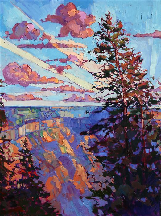 North Rim Hexaptych - Modern Impressionism Paintings by Erin Hanson | Original Expressionism Oil Paintings for Sale | California Impressionist Landscapes