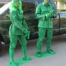 Green Army Soldiers Couple Costume