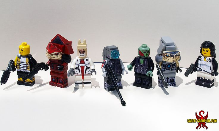 Mass Effect 3 Character Minifigs: A LEGO® creation by Justin Saber-Scorpion Stebbins : MOCpages.com