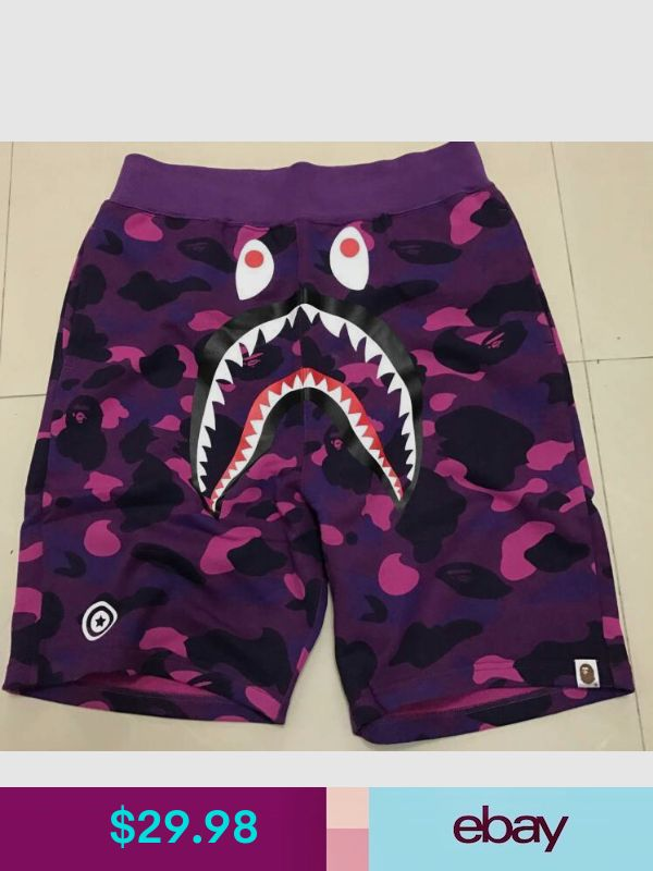 aca0a21e2c BAPE Shorts #ebay #Clothing, Shoes & Accessories | xxxtentacion inspired in  2019 | Purple pants, Bape shark, Bape