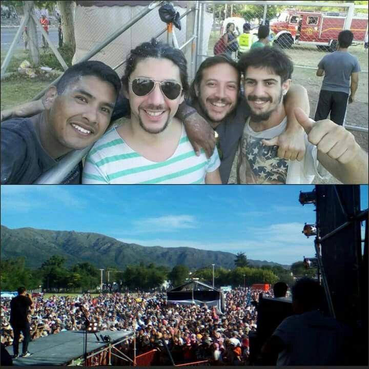 Por tocar en la 2da Fiesta Chayera en Santa Maria de Punilla. Mandamos saludos junto a Facundo Toro  y nuestro amigo Kata!!!