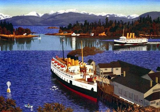 E.J. Hughes - Nanaimo harbour