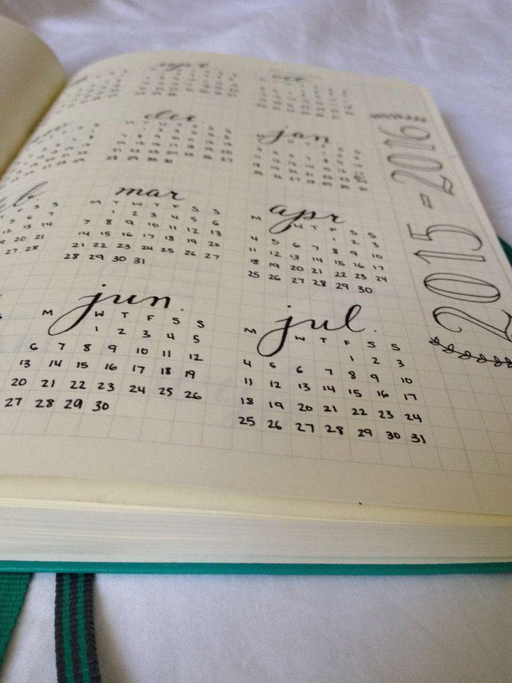 20 best BuJo / Yearly & monthly setup images on Pinterest ...