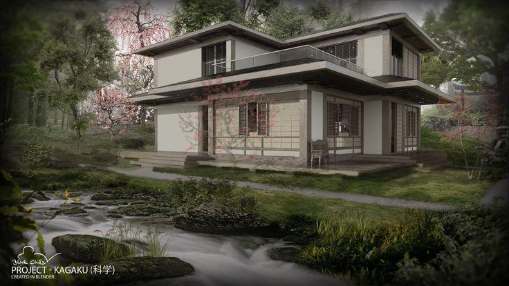Kagaku Project. Conceptual project  #design #interior #architecture #japan