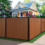 TerraFence Mesa 6 ft. x 8 ft. Timber Brown/Black Composite/Steel Fence Panel with Posts, Rails and Hardware Kit MESAFENCE6X8TB/BLK at The Home Depot - Mobile