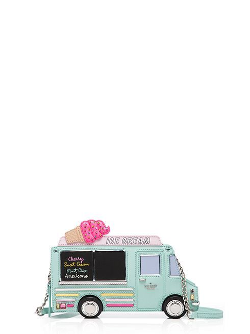 designed to resemble an ice cream truck, this whimsical zip-around clutch is surprisingly versatile, adding a dash of sweetness to even the most serious look.