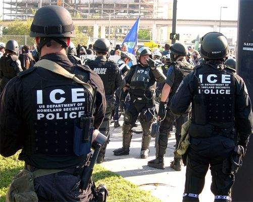 Los Angeles officials are demanding that Immigration and Customs Enforcement agents stop identifying themselves as 'police' when initiating contact with suspect - They say it will cause LAWBREAKING ILLEGAL ALIENS TO NOT COOPERATE WITH L.A. POLICE!