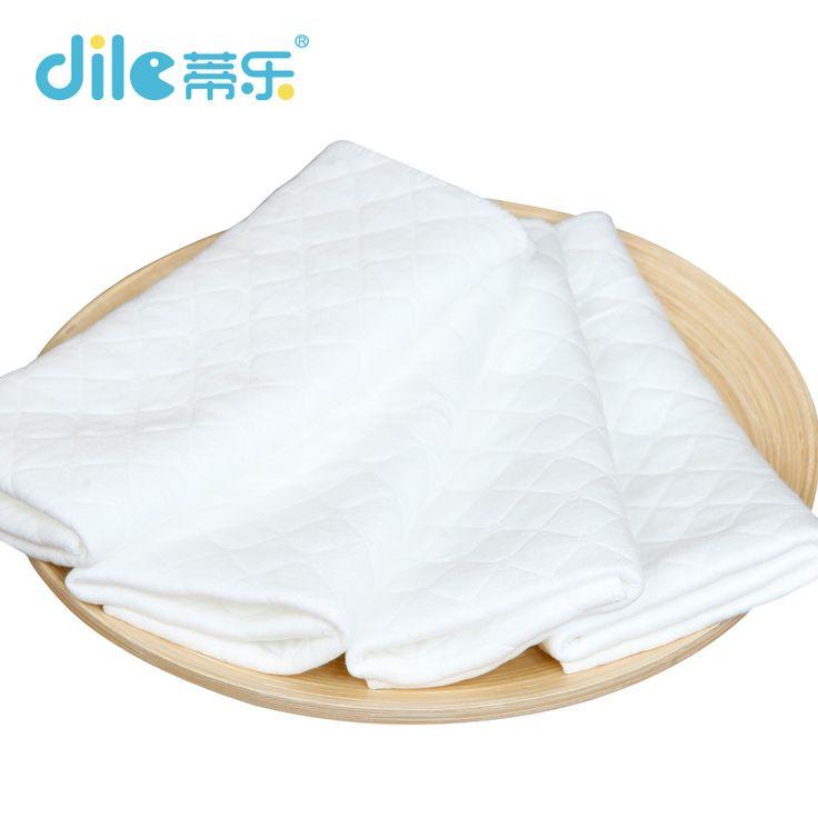10 pieces الطفل قابلة لإعادة الاستخدام تنفس حفاضات بطانات إدراج 3 طبقات قابل للغسل حفاضات فائقة الامتصاص للجنسين للأطفال