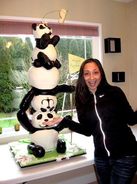 How to make a panda face cake